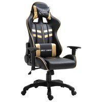 vidaXL Καρέκλα Gaming Χρυσή από Συνθετικό Δέρμα