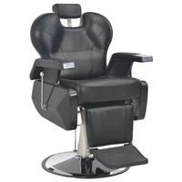 vidaXL Πολυθρόνα Κουρείου Μαύρη 72 x 68 x 98 εκ. από Συνθετικό Δέρμα