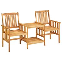 vidaXL Καρέκλες Κήπου με Τραπέζι 159 x 61 x 92 εκ. Μασίφ Ξύλο Ακακίας