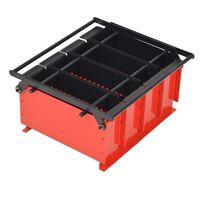 vidaXL Συσκευή Κατασκευής Μπρικετών Μαύρο/Κόκκινο 38x31x18 εκ. Ατσάλι