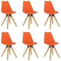 vidaXL Καρέκλες Τραπεζαρίας 6 τεμ. Πορτοκαλί