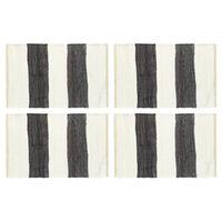vidaXL Σουπλά Chindi 4 τεμ. Ριγέ Ανθρακί / Λευκό 30 x 45 εκ.
