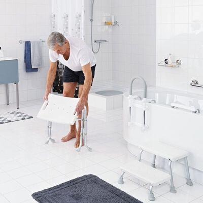 RIDDER Σκαμπό Μπάνιου Πτυσσόμενο Λευκό 110 κ. A0050301