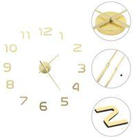 vidaXL Ρολόι Τοίχου Τρισδιάστατο Μοντέρνο Χρυσό 100 εκ. XXL