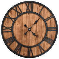 vidaXL Ρολόι Τοίχου Vintage XXL 60 εκ Ξύλο/Μέταλλο με Μηχανισμό Quartz