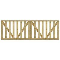 vidaXL Πόρτες Φράχτη με Σανίδες 2 τεμ. 150x100 εκ. Εμποτ. Ξύλο Πεύκου