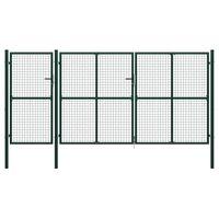 vidaXL Πόρτα Περίφραξης Κήπου Πράσινη 400 x 200 εκ. Ατσάλινη