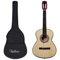 "vidaXL Κλασική Κιθάρα Σετ 8 Τεμαχίων για Παιδιά & Αρχάριους 3/4 36"""