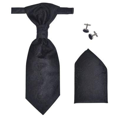 Σετ Ανδρικό Γιλέκο Γάμου με Σχέδιο Λαχούρια Μαύρο Μέγεθος 52