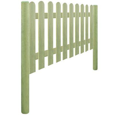 vidaXL Φράχτης Κήπου 5,1 μ. 150 εκ. 6/9 εκ. Εμποτισμένο Ξύλο Πεύκου