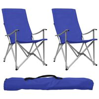 vidaXL Καρέκλες Camping Πτυσσόμενες 2 τεμ. Μπλε