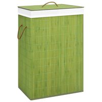 vidaXL Καλάθι Απλύτων Πράσινο από Μπαμπού