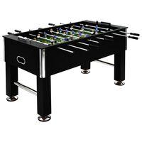 vidaXL Ποδοσφαιράκι Επιτραπέζιο Μαύρο 140x74,5x87,5 εκ. 60κ. Ατσάλι