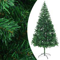 vidaXL Χριστουγεννιάτικο Δέντρο Τεχνητό 910 Κλαδιά 210 εκ. Ατσαλ. Βάση