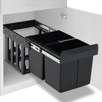 vidaXL Κάδος για Ντουλάπι Κουζίνας Συρόμενος 36 Λίτρων με Soft-Close