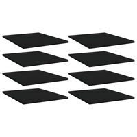 vidaXL Ράφια Βιβλιοθήκης 8 τεμ. Μαύρα 40x50x1,5 εκ. από Μοριοσανίδα