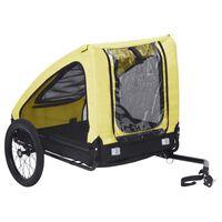 vidaXL Τρέιλερ Μεταφοράς Κατοικίδιων Κίτρινο και Μαύρο