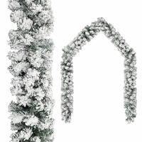 vidaXL Γιρλάντα Χριστουγεννιάτικη Χιονισμένη Πράσινη 10 μ. από PVC