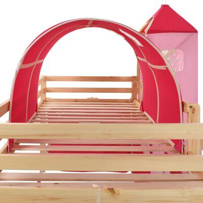 vidaXL Πλαίσιο Υπερυψ. Κρεβατιού με Τσουλήθρα & Σκάλα 208x230 εκ Πεύκο