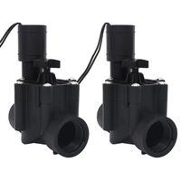 vidaXL Ηλεκτρομαγνητικές Βαλβίδες Άρδευσης Νερού 2 τεμ. AC 24 V