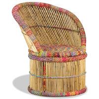 vidaXL Πολυθρόνα με Λεπτομέρειες Chindi από Μπαμπού