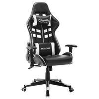 vidaXL Καρέκλα Gaming Ασπρόμαυρη από Συνθετικό Δέρμα