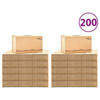 vidaXL Χαρτοκιβώτια Μετακόμισης 200 τεμ. XXL 60 x 33 x 34 εκ.
