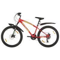 vidaXL Ποδήλατο Mountain 26'' Κόκκινο με 21 Ταχύτητες 36 εκ.