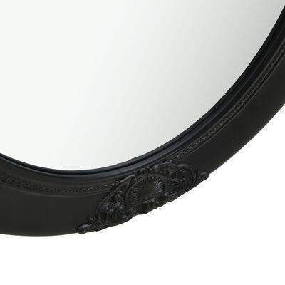 vidaXL Καθρέφτης Τοίχου  με Μπαρόκ Στιλ Μαύρος 50 x 70 εκ.