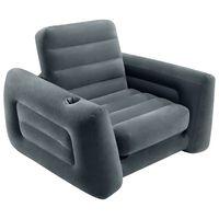 Intex Πολυθρόνα Κρεβάτι Φουσκωτή Σκούρο Γκρι 117 x 224 x 66 εκ.