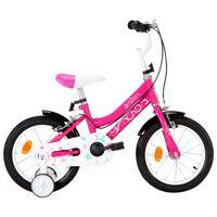 vidaXL Ποδήλατο Παιδικό Μαύρο / Ροζ 14 Ιντσών