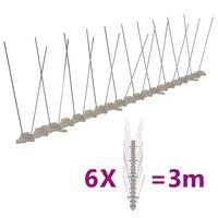 vidaXL Απωθητικές Ακίδες Περιστεριών 2 Σειρών Σετ των 6 3 μ. Πλαστικές