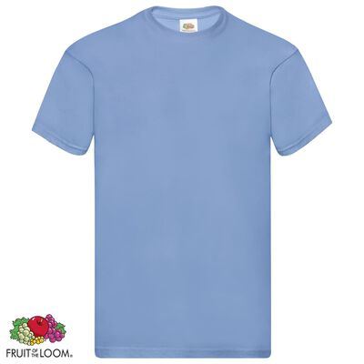 Fruit of the Loom T-shirt Original 5 τεμ. Γαλάζια XXL Βαμβακερά