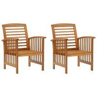 vidaXL Καρέκλες Κήπου 2 τεμ. από Μασίφ Ξύλο Ακακίας