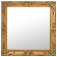 vidaXL Καθρέφτης Τοίχου με Μπαρόκ Στιλ Χρυσός 60 x 60 εκ.