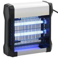 vidaXL Εντομοπαγίδα Ηλεκτρική 12 W Μαύρη από Αλουμίνιο και ABS