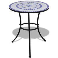 vidaXL Τραπέζι Bistro «Μωσαϊκό» Μπλε / Λευκό 60 εκ.