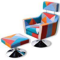 vidaXL Πολυθρόνα με Σχέδιο Patchwork Υφασμάτινη