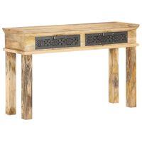 vidaXL Τραπέζι Κονσόλα με Συρτάρια 120x35x75 εκ. από Μασίφ Ξύλο Μάνγκο
