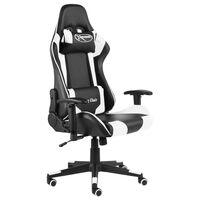 vidaXL Καρέκλα Gaming Περιστρεφόμενη Λευκή PVC