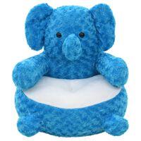 vidaXL Ελέφαντας Λούτρινος Μαλακός Μπλε