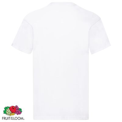Fruit of the Loom T-shirt Original 5 τεμ. Λευκά L Βαμβακερά