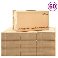 vidaXL Χαρτοκιβώτια Μετακόμισης 60 τεμ. XXL 60 x 33 x 34 εκ.