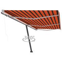vidaXL Τέντα Αυτόματη Ανεξάρτητη Πορτοκαλί/Καφέ 600 x 300 εκ.