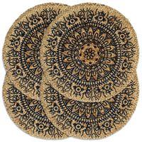 vidaXL Σουπλά Στρογγυλά 4 τεμ. Σκούρο Μπλε 38 εκ. από Γιούτα