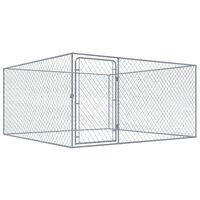 vidaXL Κλουβί Σκύλου Εξωτερικού Χώρου 2x2x1 μ. από Γαλβανισμένο Ατσάλι