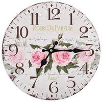 vidaXL Ρολόι Τοίχου Vintage Λουλούδι 30 εκ.