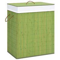 vidaXL Καλάθι Απλύτων Πράσινο 83 Λίτρα από Μπαμπού