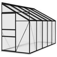 vidaXL Greenhouse Anthracite Aluminium 6,5 m³