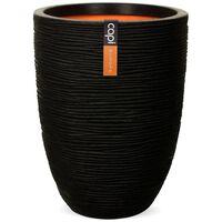 Capi Βάζο Nature Rib Elegant Low Μαύρο 36 x 47 εκ. KBLR782